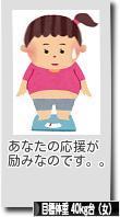 にほんブログ村 ダイエットブログ 目標体重 40kg台(女)へ